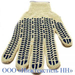 Перчатки 7,5 кл 7 нитка (точка, волна, протектор)