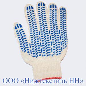 Перчатки 10 кл 5-ти нитка плотной вязки (точка, волна, протектор)
