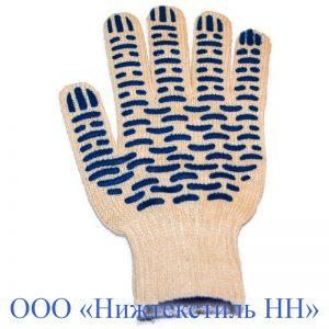 Перчатки 7,5 кл 5-ти нитка 1 п/эф (точка, волна, протектор)