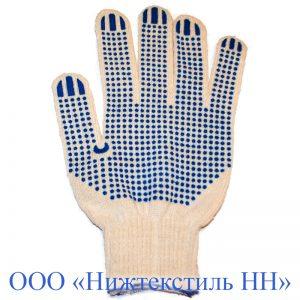 Перчатки 10 кл 5-ти нитка Люкс (точка, протектор, волна)