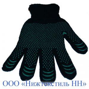 Перчатки 7,5 кл двойные п/ш Русская зима (точка, волна, протектор)