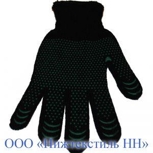 Перчатки 7,5 кл двойная п/ш теплая (точка ,волна, протектор)