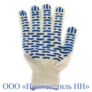 Перчатки 10 кл 6-ти нитка СУПЕР-ЛЮКС (точка, волна, протектор)