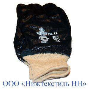Перчатки Нитриловые манжет трикотаж, полный облив