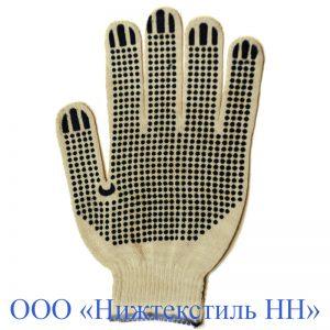 Перчатки 10 кл 4-нитка облегченная (точка, волна, протектор)