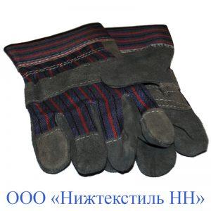 Перчатки комбинированные Ангара (говяжий спилк) «ТРАЛ»